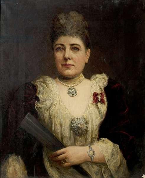 Marie Effie, née Wilton, Lady Bancroft (oil on canvas)