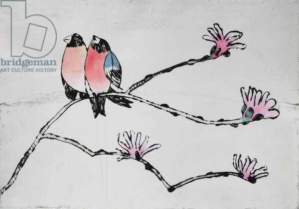 Song of Love, 2008 (drypoint and watercolour)