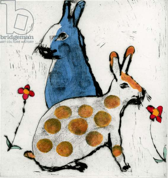 Tea Time, 2010 (drypoint and watercolour)