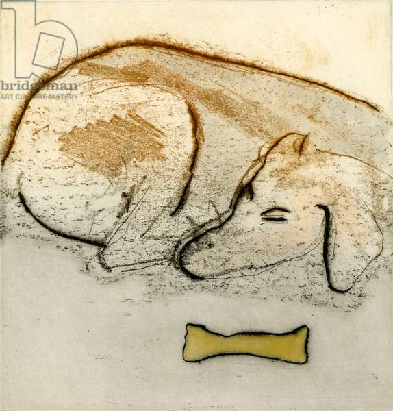 Watchful Eye, 1994 (softground etching and watercolour)