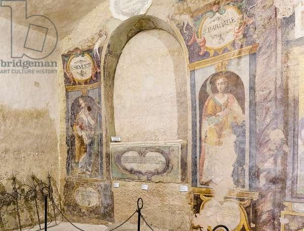 Crypt of San Giuliano, located in the Church of Sant'Agostino in Matera, Basilicata, Italy