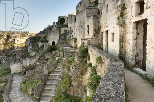 View of Sasso Caveoso, Matera, Basilicata, Italy.