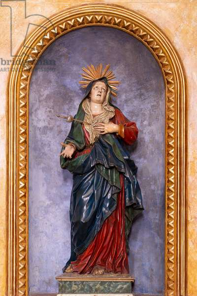 Our Lady of Sorrows, located in the chapel of the same name, by the Neapolitan sculptor Jacopo (Giacomo) Colombo