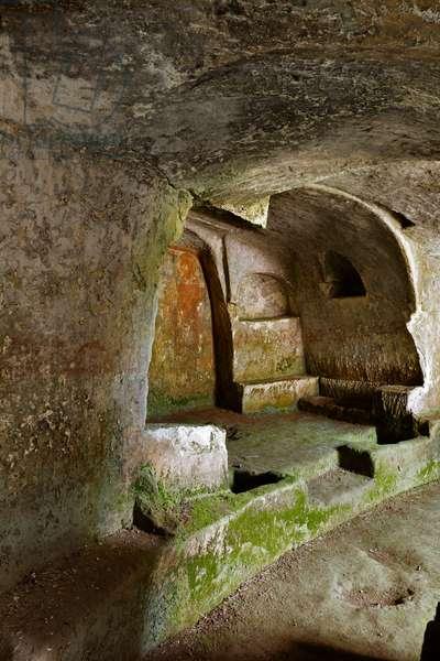 Castellaneta, Taranto, Puglia, Italy, The Rock Church of the Padreterno in the ravine of Coriglione. (photo)