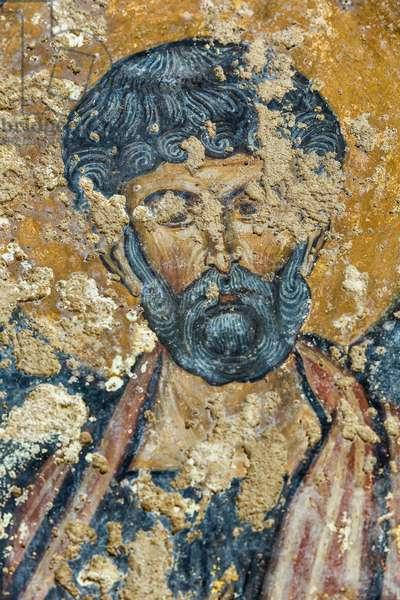 Mottola, Taranto, Puglia, Italy, Rock Church of Sant'Angelo, Fresco di San Pietro (photo)