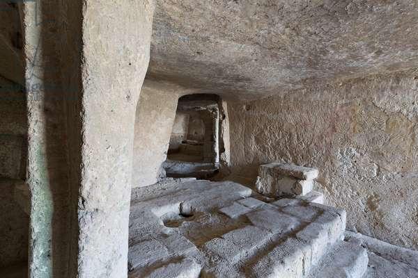 Matera, Basilicata, Italy, Sasso Caveoso, Cave houses, houses used up to the 40s (photo)