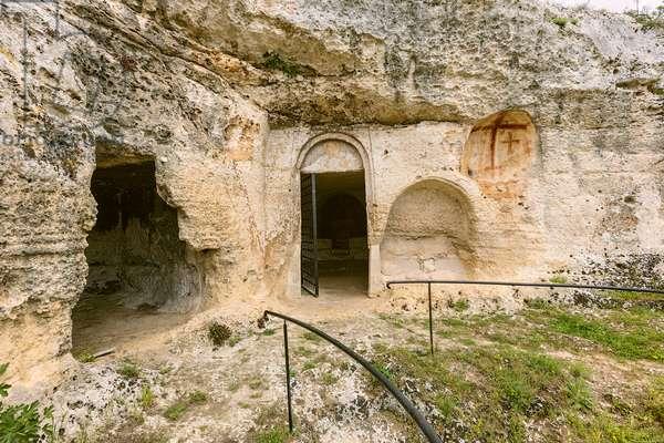 Mottola, Taranto, Puglia, Italy, Rock church of St. Nicholas, exterior (photo)