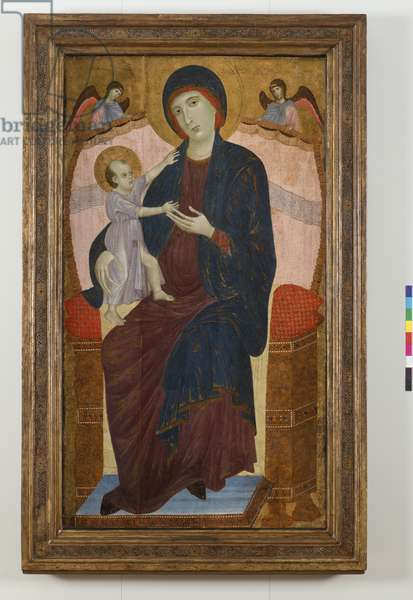 Madonna and Child Enthroned and Angels, 1280-85 (Tempera on Panel)