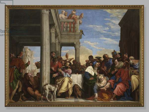 Dinner in the House of Simon, 1555-56 (oil on canvas)