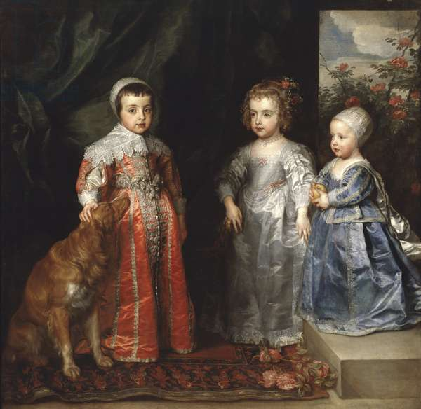 The Children of Charles I of England, 1635 (oil on canvas)