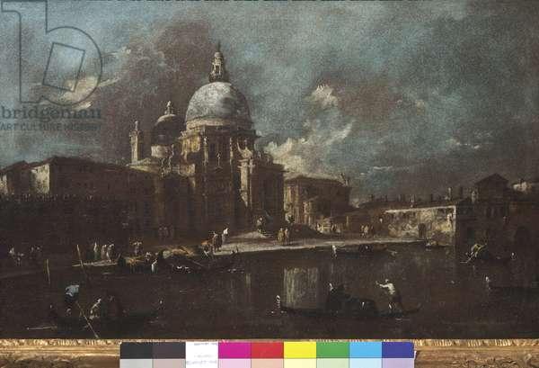 View of the Church of Santa Maria della Salute, 1774-91 (oil on canvas)