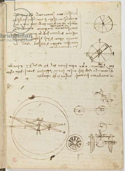 Birds Flight Code, c. 1505-06, paper manuscript, cc. 18, sheet 3 recto