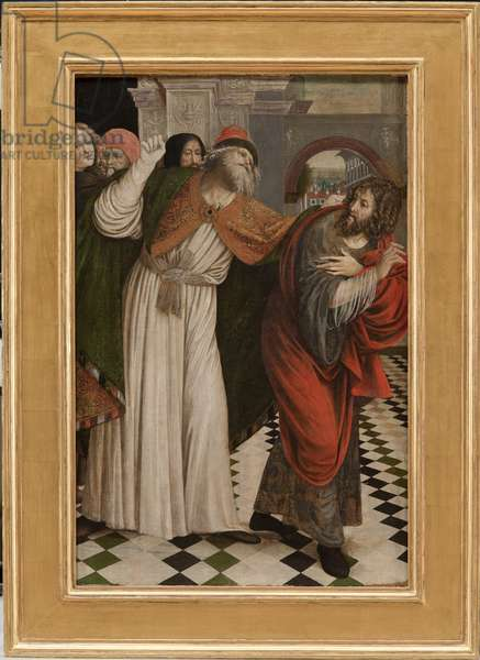 Joachim expelled from the Temple, 1508-09 (tempera on board)