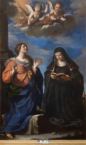 Saint Gertrude and Lucretia, 1645 (oil on canvas)