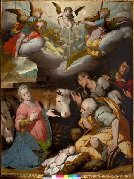 Adoration of the Shepherds, 1592-95 (oil on panel)