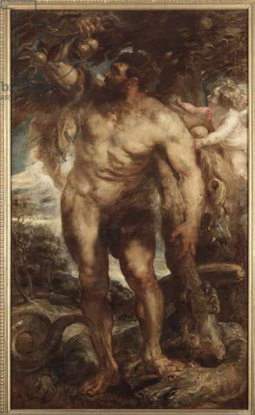 Hercules in the Garden of the Hesperides, c.1638 (oil on canvas)