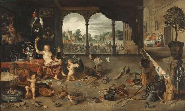 The vanity of human life, 1631 (mixed media on board)