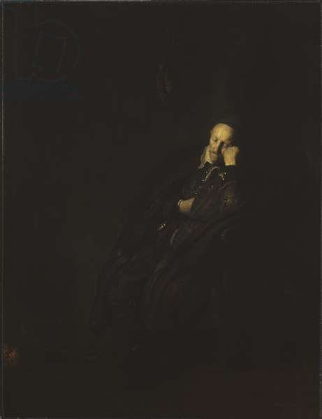 Portrait of an old man, 1629 (oil on panel)
