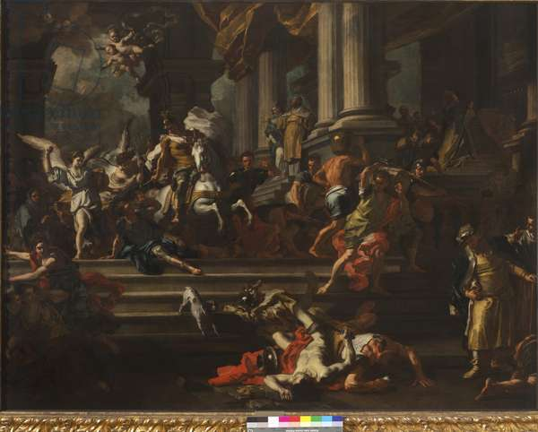 Heliodorus expelled from the Temple of Jerusalem, 1720-24 (oil on canvas)