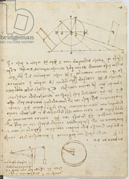 Birds Flight Code, c. 1505-06, paper manuscript, cc. 18, sheet 4 recto