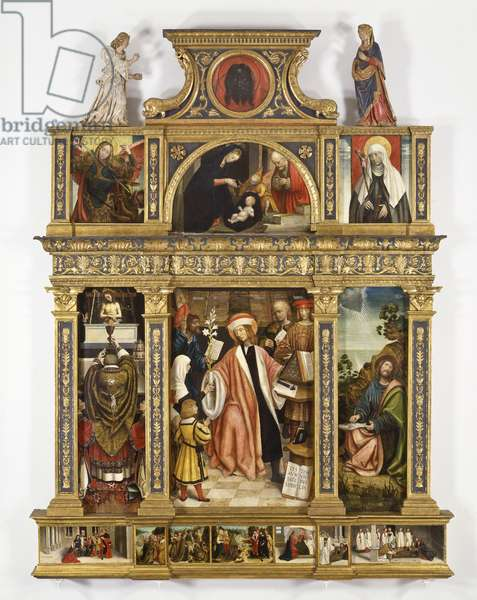 Polyptych of Sant Ivo, c.1520 (tempera on board, antique frame)