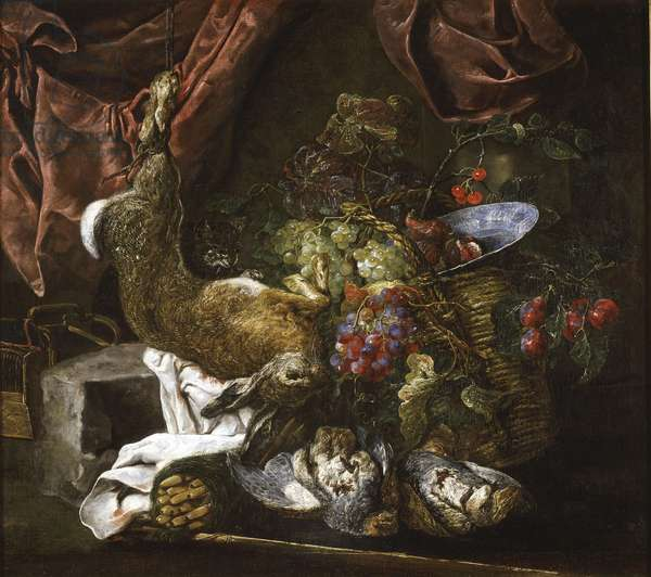 Still Life with Game and Fruits, 1641-61 (oil on canvas)
