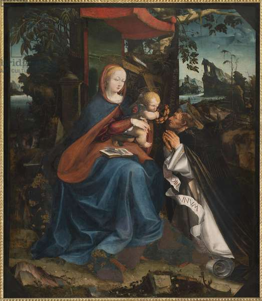 Madonna and Child and St Peter Martyr, 1525 (Tempera on Panel)