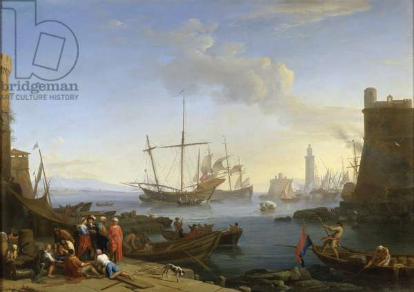 Seaport, 1726 (oil on canvas)