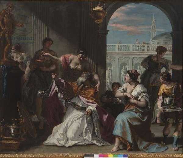 Solomon adores idols, c.1724 (oil on canvas)