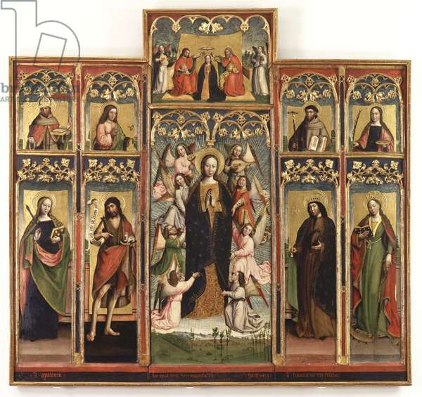 Polyptych of the Assumption of the Virgin, 1493 (tempera and gold on panel with gold background)