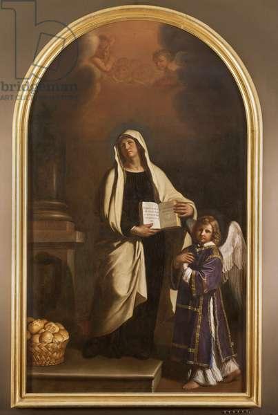Saint Francesca Romana, 1656 (oil on canvas)