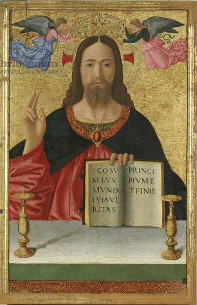 Christ Blessing, 1456-69 (tempera and gilding on wood)