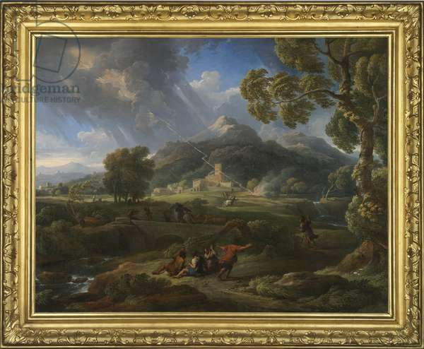 Hurricane in the Roman countryside, 1725-49 (oil on canvas)