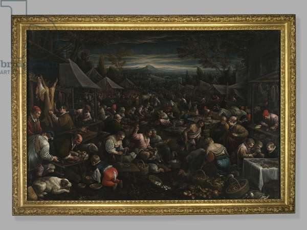 Small Market, c.1580-82 (oil on canvas)