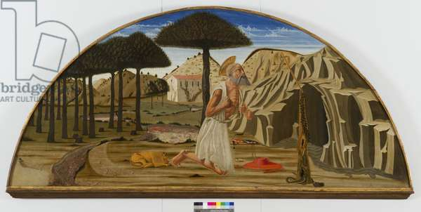 Saint Jerome in the desert, 1450-80 (tempera on board)