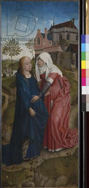 The visitation, c.1435 (tempera and oil on wood)