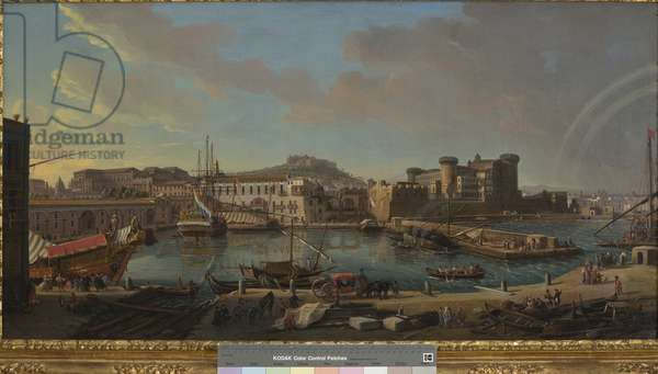 The dock of Naples, 1711 (oil on canvas)