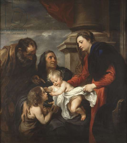Holy Family with St Elizabeth and St John, c. 1621-25 (oil on canvas)