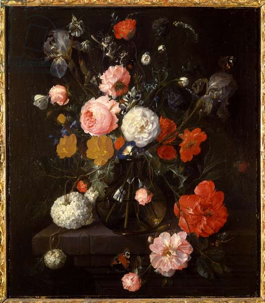 Vase with flowers, c.1670-80 (oil on canvas)