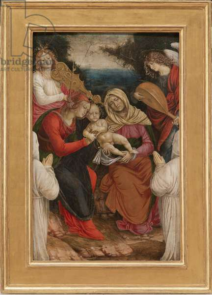 Madonna and Child, St Anne and Donors, 1508-09 (Tempera on Panel)