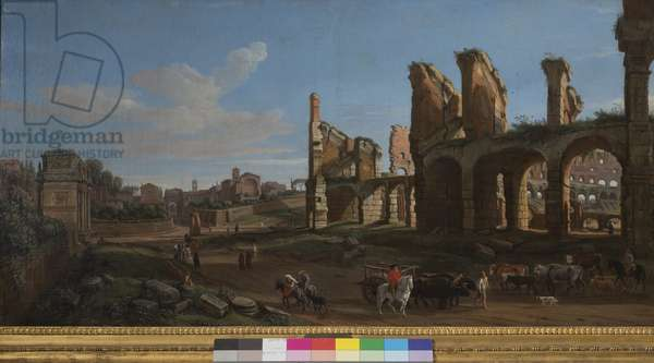 The Colosseum and the Roman Forum, 1711 (oil on canvas)