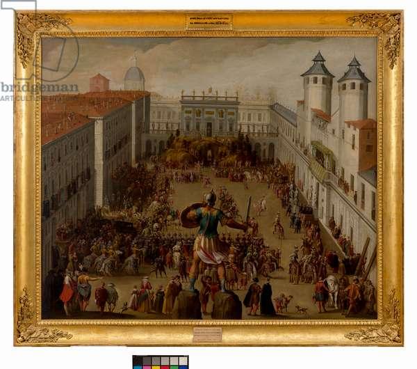 Tournament in the Piazza del Castello, Turin, 1620 (oil on canvas)