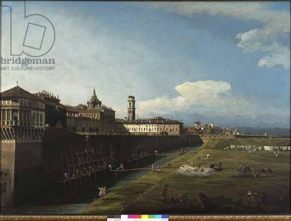 View of Turin from the Side of the Royal Gardens, 1745 (oil on canvas)