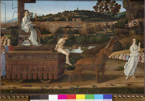 Triumph of Chastity, c.1485 (tempera on panel)