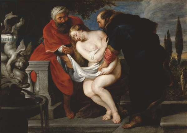 Susanna and the Elders, 1610-20 (oil on canvas)