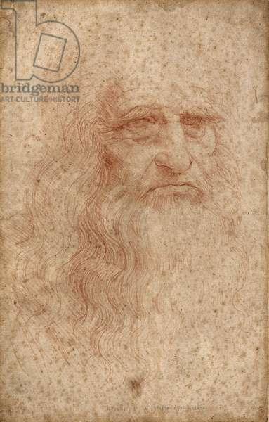 Self-portrait, c. 1515-16 (blood on white paper)