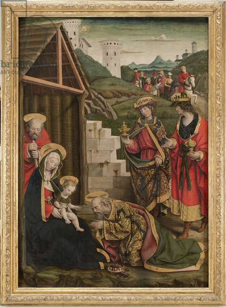 Adoration of the Magi, c. 1496-1500 (tempera and gold on board)