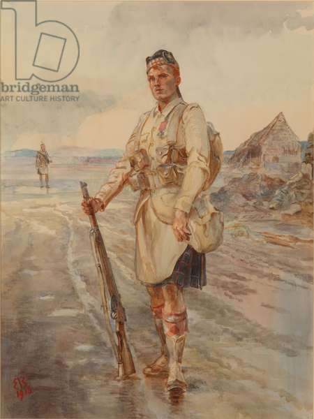 A 'V.C.' of the Seaforths, 1916 (w/c on paper)