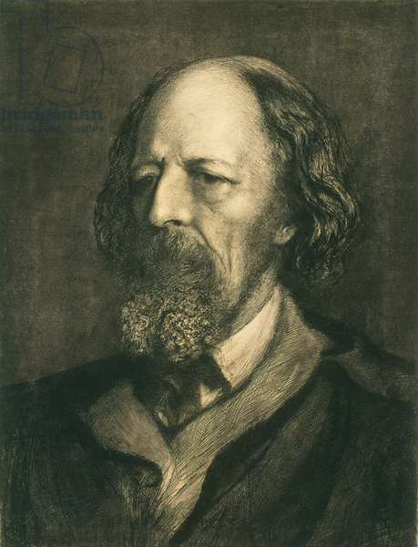 Alfred, Lord Tennyson, 1879 (etching)