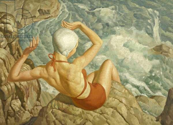 Spray, c.1940 (oil on canvas)